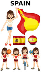 Spainish girl and many sports