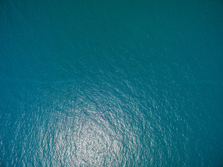 Foto op Canvas Luchtfoto water surface aerial view