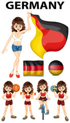 Germany representative and many sports