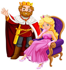 King and queen on the chair