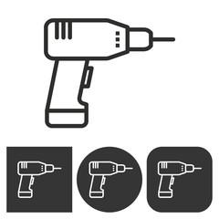 Drill - vector icon.