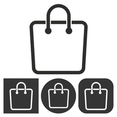 Shopping bag - vector icon.