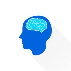 Brain - vector icon.