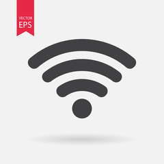 WIFI Icon Vector. WIFI sign isolated on white background