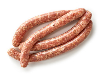 fresh raw ground meat sausages