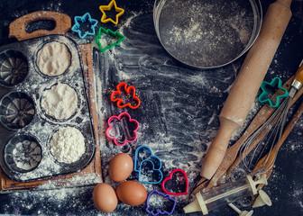 Baking children concept