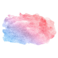 watercolor pink blue cloud