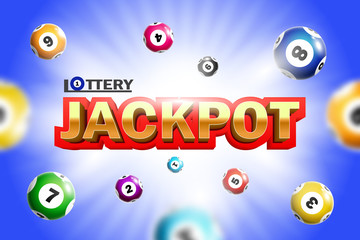 Lottery Jackpot background with colorful balls.