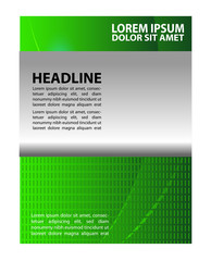 Abstract background with wave - brochure design or flyer
