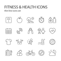 Fitness and health icons.