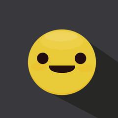 Smiley Face. Smile. Flat Vectpr