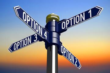 Crossroads sign - options