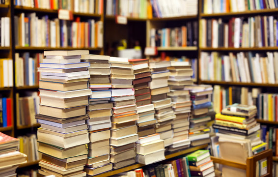 used books in second-hand bookshop