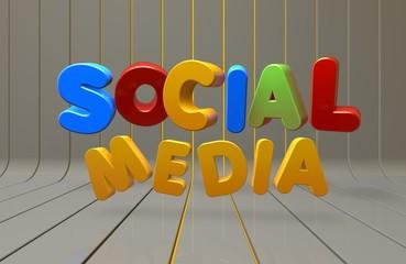 Social Media, 3D Tipografi