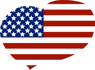 heart of the American flag
