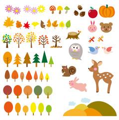 秋の森 動物たち セット