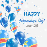 Malta Independence Day Greeting Card Flying Balloons In Malta - Congo independence day