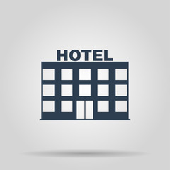 hotel icon. Vector concept illustration for design