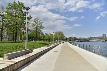 La nouvelle promenade le long de la Meuse à Liège