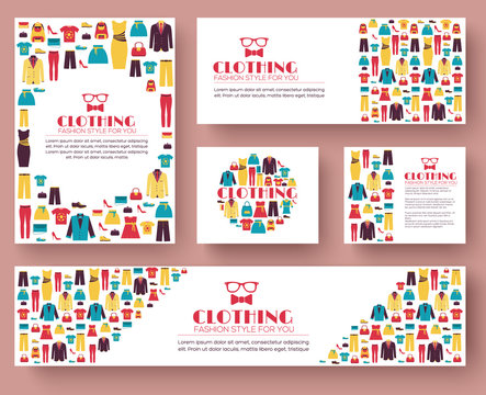 Fashion clothing infographics template concept. Icons design for your product or design, web and mobile applications
