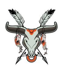 bull skull tattoo