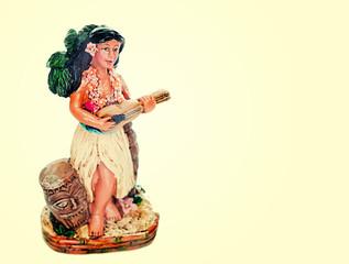 Hawaiian Hula Dancer playing