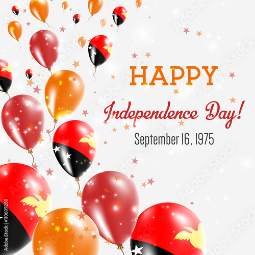 Papua new guinea independence day greeting card flying balloons in papua new guinea independence day greeting card flying balloons in papua new guinea national colors m4hsunfo
