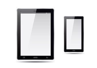 Tablets and smart phone. Vector Illustration.