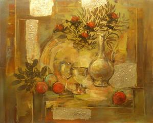 still life handmade painting
