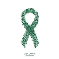 Vector modern liver cancer awareness circles desigen
