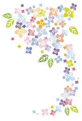カラフルな花の飾りイラスト素材