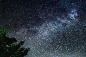 Clearly Milky Way galaxy found in Russia at night