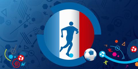France Soccer / Football Background. Vector Illustration.