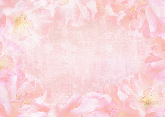 Beautiful abstract roses background with place for your text