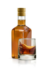 Whiskey, alcohol drink vector icon