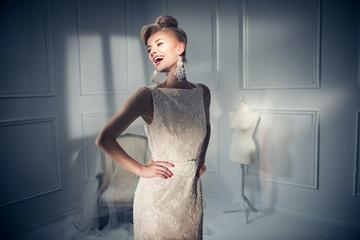 Portrait of a beautiful and elegant lady