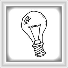 Simple doodle of a light bulb