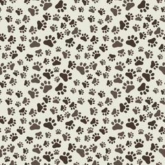 Dog Paw Print Seamless, anilams pattern, vector illustration