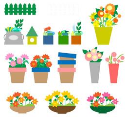 花、多肉植物、鉢植え、多肉、寄せ植え、花屋、フラワー、セット、趣味、鉢、フラワーショップ、ショップ、挿し絵、女性、女子、イラスト、かわいい、