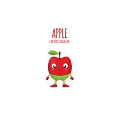 Apple Flat Cartoon Character