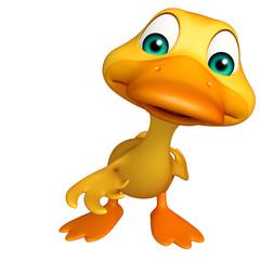 Duck funny cartoon character