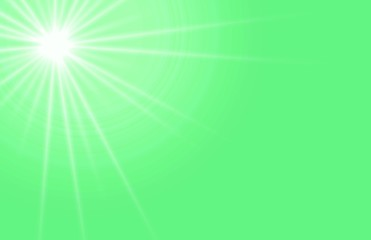 green sunny nature background