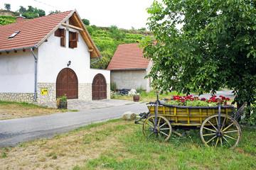 Wine cellars of Tokaj. Tokaj Wine Region Historic Cultural Landscape is Unesco World Heritage Site, Hungary