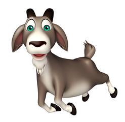 cute Goat funny cartoon character
