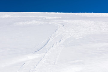 snow skiing trail