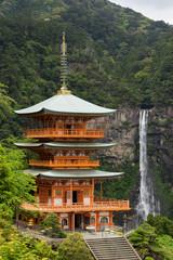 Nachi Waterfall and Three story pagora (那智の滝と三重塔) in Wakayama, Japan