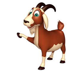 fun Goat funny cartoon character