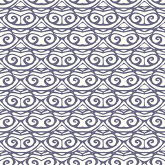 Seamless pattern with doodle ornament