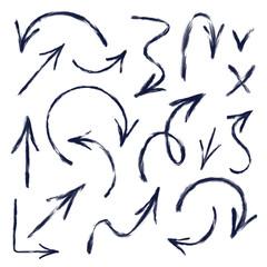 Set of hand drawn arrows. Vector illustration