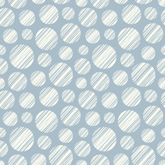 Seamless pattern with hand drawn circle elements